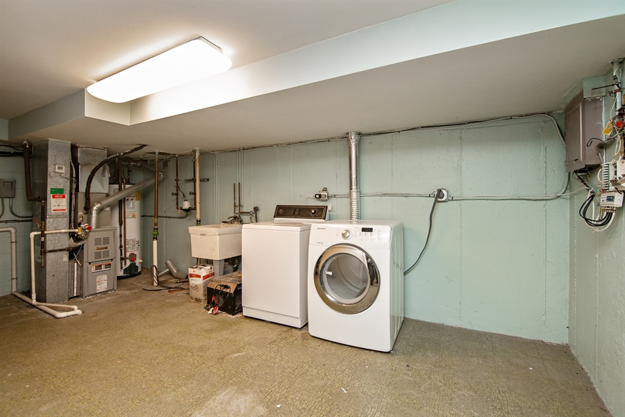 Real Estate Photography - 1837 Prairie, Glenview, IL, 60025 - Laundry RM has loads of storage