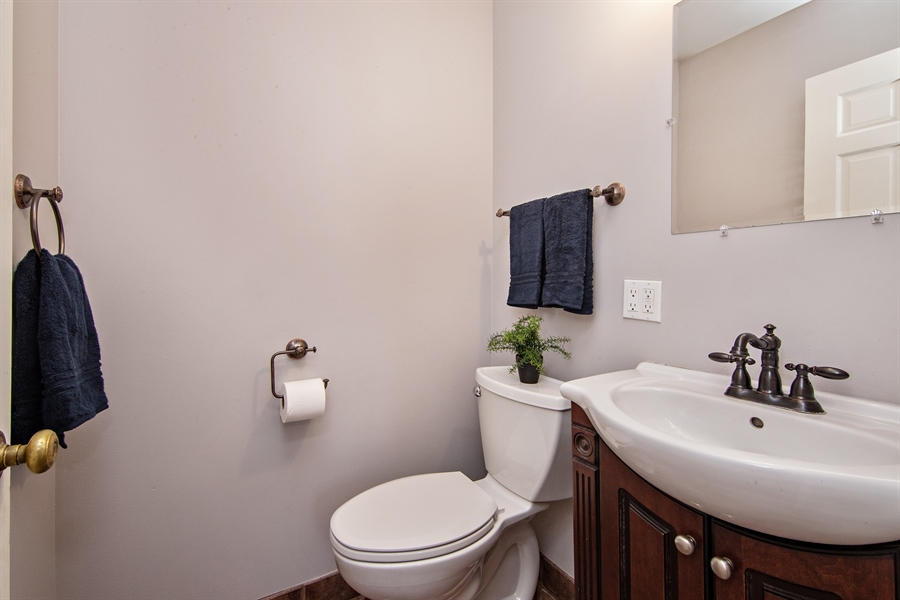 Real Estate Photography - 1837 Prairie, Glenview, IL, 60025 - Main Level Half Bath