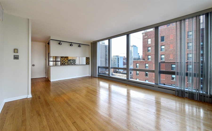 Real Estate Photography - 1300 N Astor St, Unit 16C, Chicago, IL, 60610 - Living Room