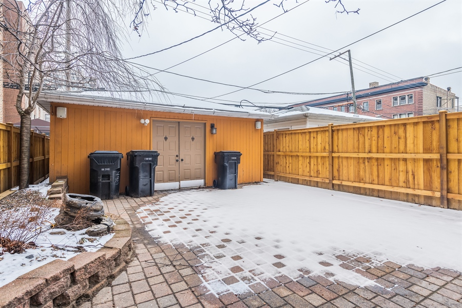 Real Estate Photography - 4909 Winthrop, Chicago, IL, 60640 - Back Yard