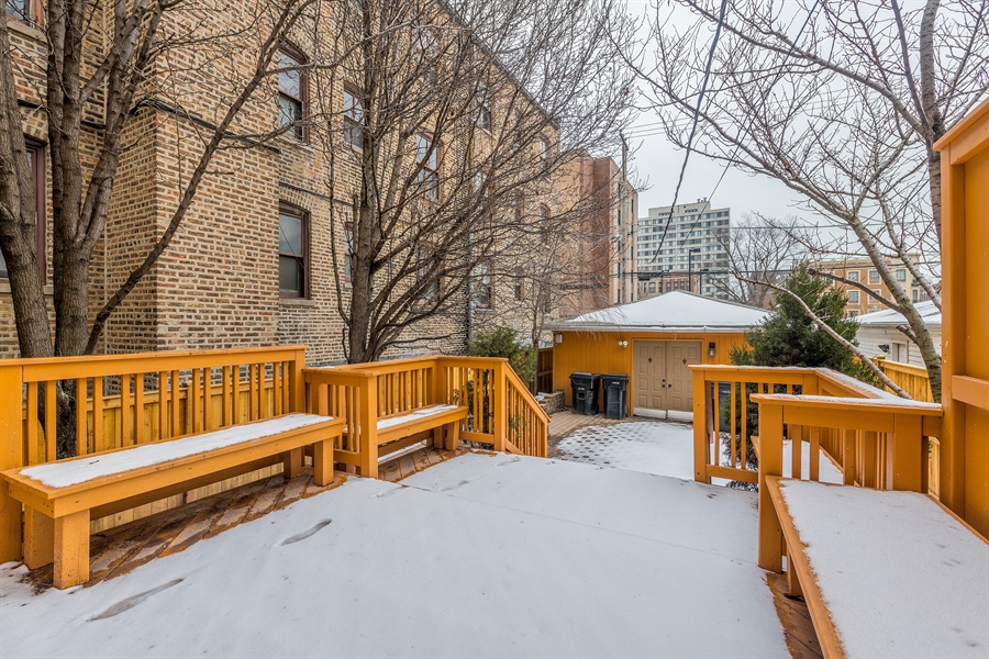 Real Estate Photography - 4909 Winthrop, Chicago, IL, 60640 - Deck