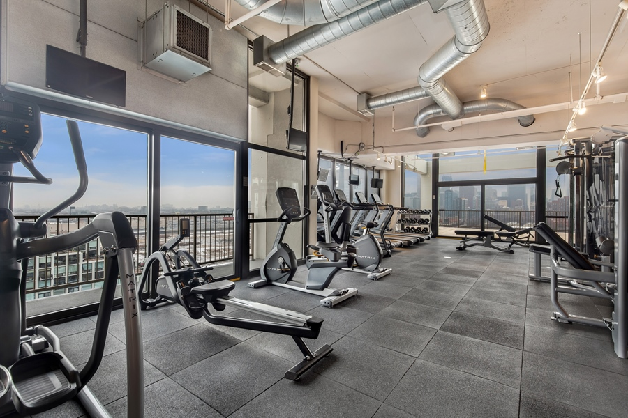 Real Estate Photography - 1530 S State St, Unit 929-930, Chicago, IL, 60605 - Fitness Room
