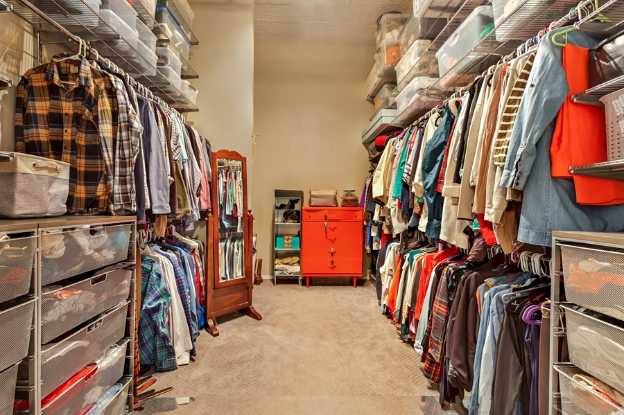 Real Estate Photography - 1530 S State St, Unit 929-930, Chicago, IL, 60605 - Master Bedroom Closet