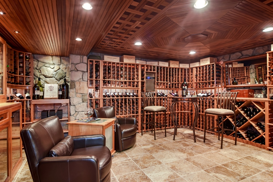 Real Estate Photography - 6217 Pine Cone Ct, Long Grove, IL, 60047 - Wine Cellar