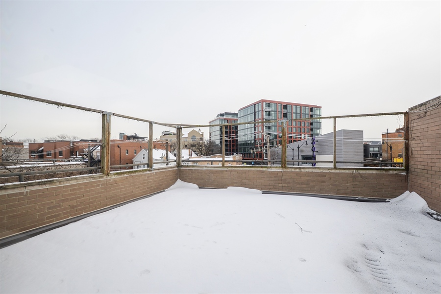 Real Estate Photography - 931 W Wrightwood Ave, Unit C, Chicago, IL, 60614 - Roof Deck