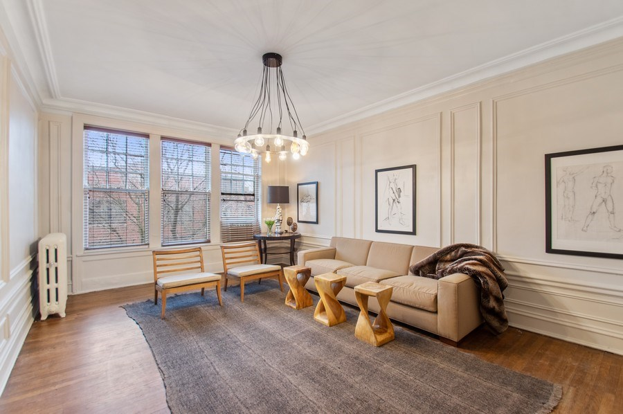 Real Estate Photography - 456 W Surf, 3R, Chicago, IL, 60657 - Living Room