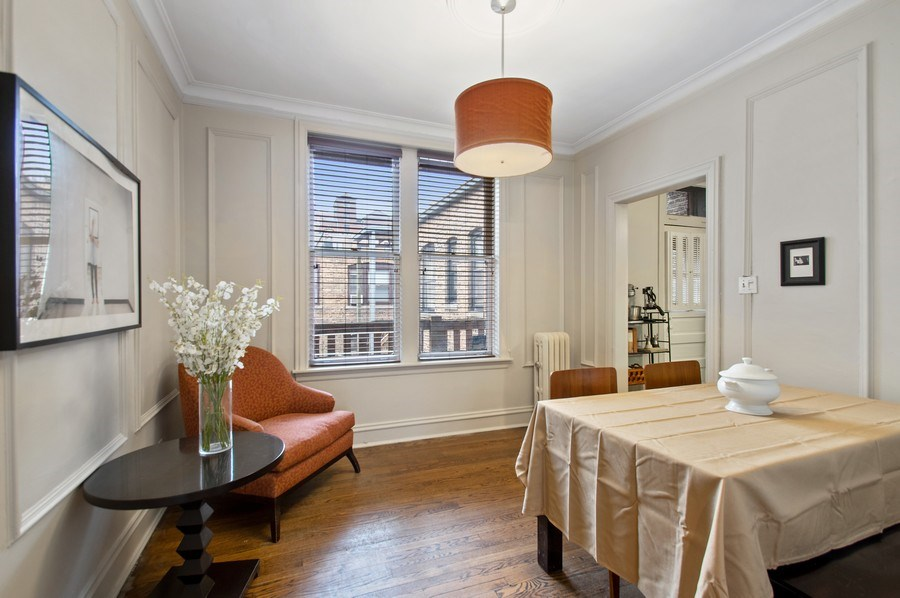 Real Estate Photography - 456 W Surf, 3R, Chicago, IL, 60657 - Dining Room