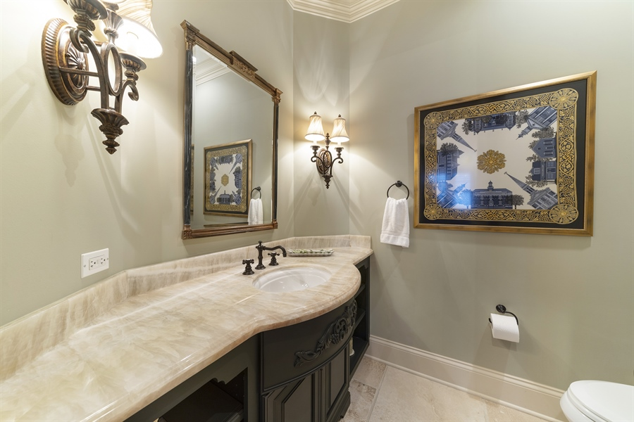 Real Estate Photography - 415 S. Adams St., Hinsdale, IL, 60521 - Powder Room