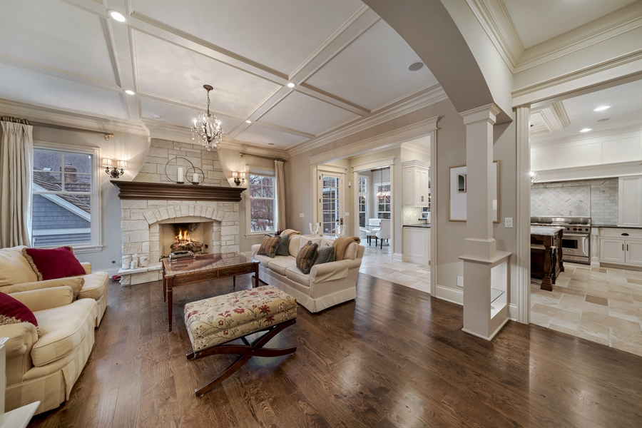 Real Estate Photography - 415 S. Adams St., Hinsdale, IL, 60521 - Family Room
