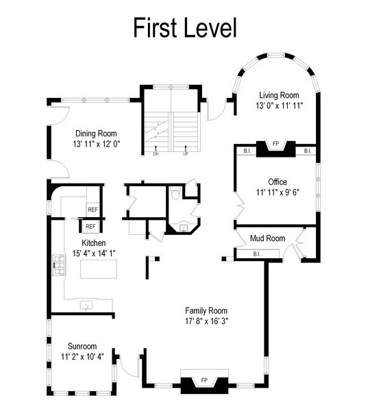 Real Estate Photography - 415 S. Adams St., Hinsdale, IL, 60521 - Floor Plan