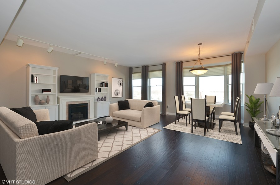 Real Estate Photography - 77 S Evergreen Ave, 503, Arlington Heights, IL, 60005 - Living/Dining Room