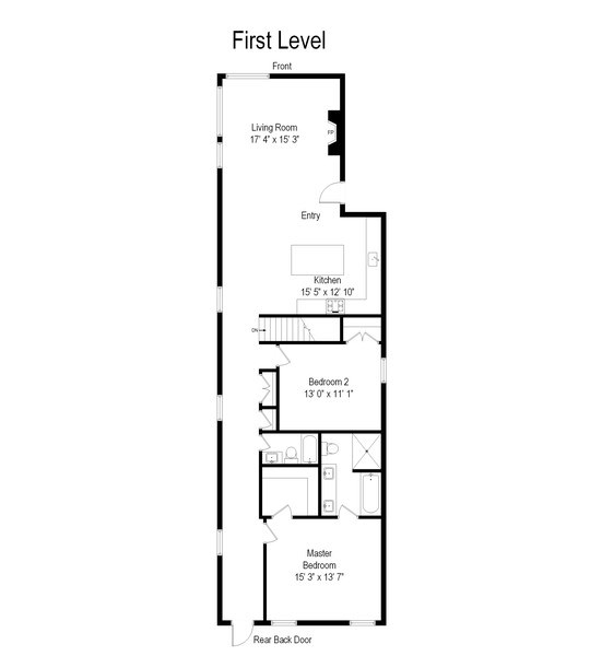 Real Estate Photography - 1213 E. 46th Street, 1, Chicago, IL, 60653 - Floor Plan
