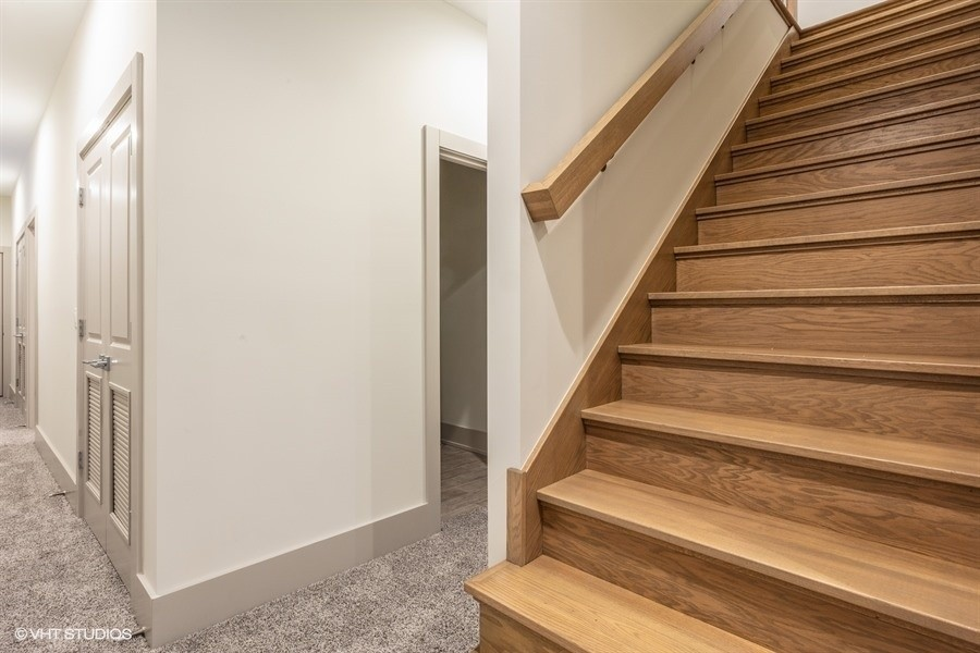 Real Estate Photography - 1213 E. 46th Street, 1, Chicago, IL, 60653 - Lower Level Staircase