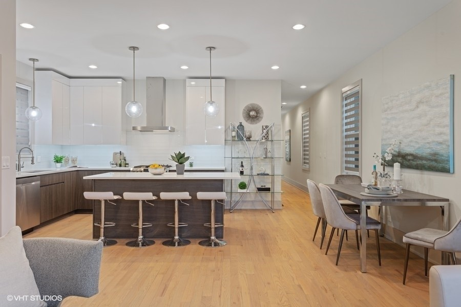 Real Estate Photography - 1213 E. 46th Street, 1, Chicago, IL, 60653 - Kitchen | Dining Room