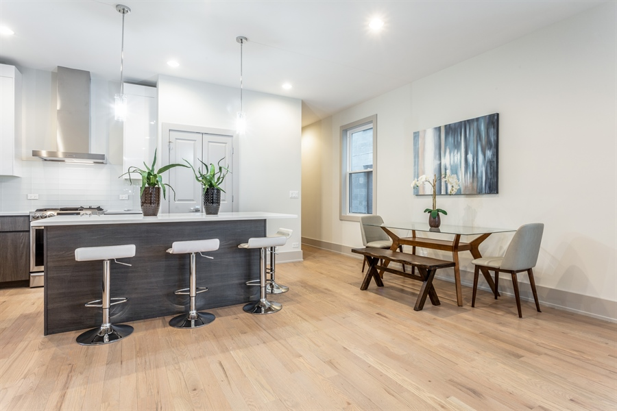 Real Estate Photography - 1213 E. 46th Street, 1, Chicago, IL, 60653 - Kitchen / Dining Room