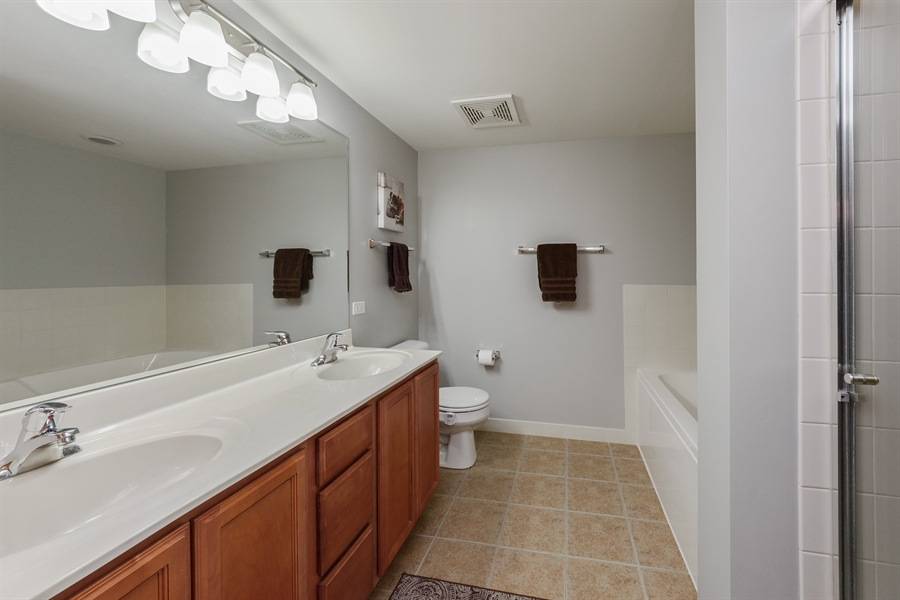 Real Estate Photography - 225 Main st, 307, Roselle, IL, 60172 - Master Bathroom