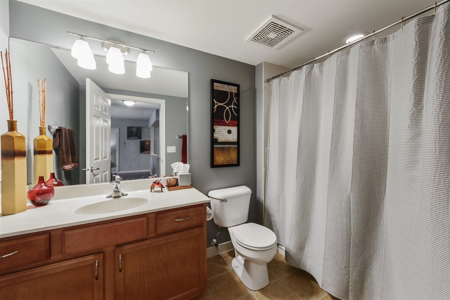 Real Estate Photography - 225 Main st, 307, Roselle, IL, 60172 - 2nd Bathroom