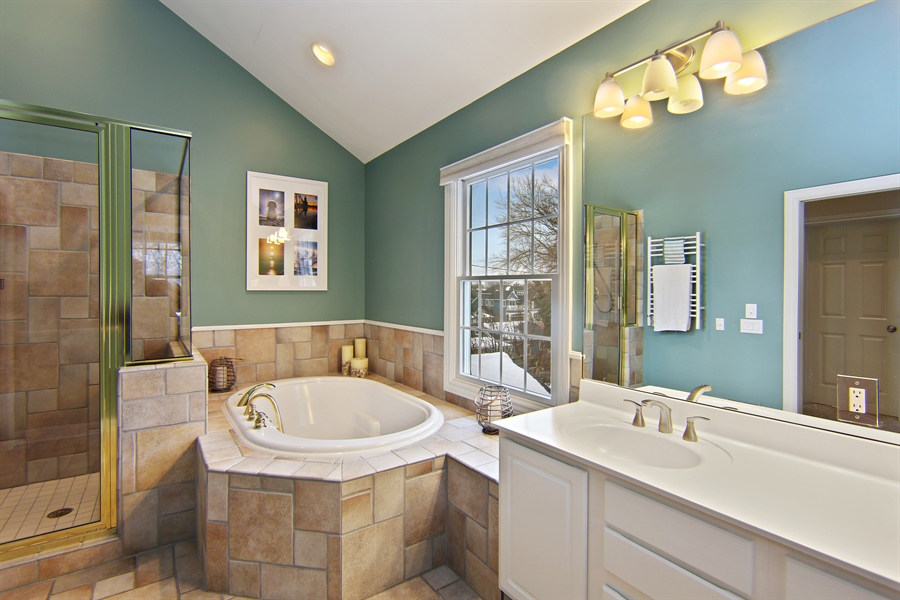 Real Estate Photography - 495 Ridgeway, St Joseph, MI, 49085 - Master Bathroom