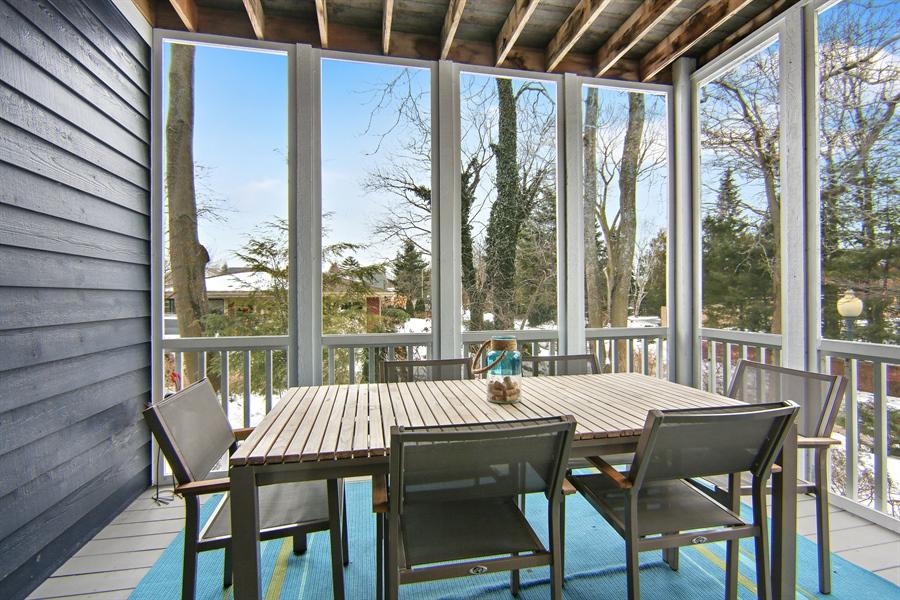 Real Estate Photography - 495 Ridgeway, St Joseph, MI, 49085 - Screen Porch Main Floor Dining