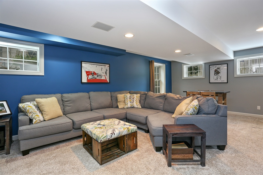 Real Estate Photography - 495 Ridgeway, St Joseph, MI, 49085 - Lower Level Family Room