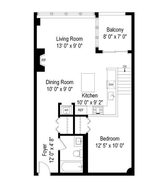 Real Estate Photography - 1834 Ridge, Evanston, IL, 60201 - Floor Plan