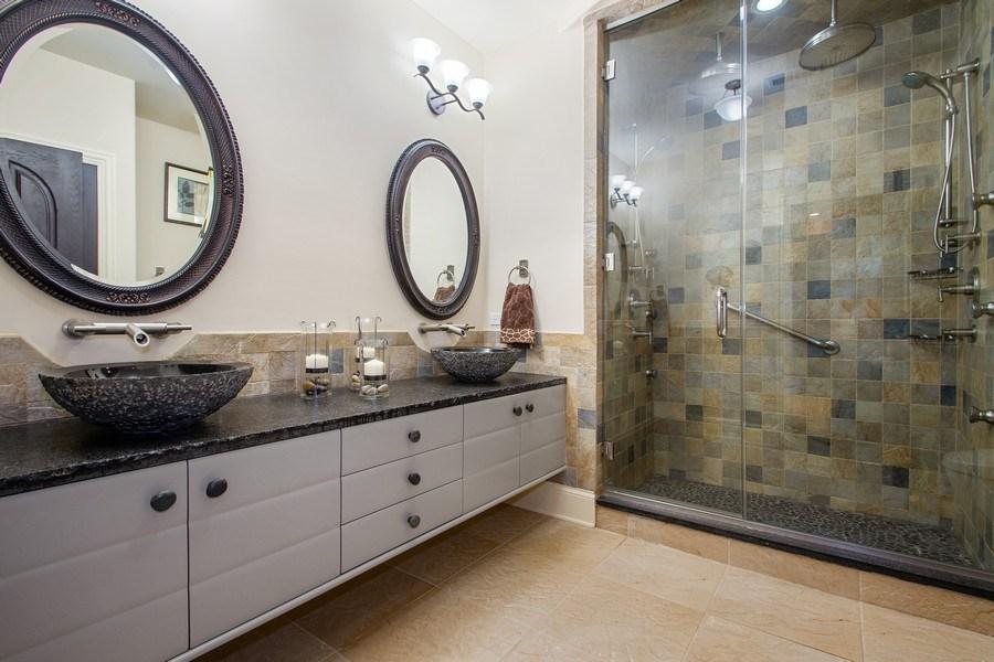 Real Estate Photography - 6455 N Sauganash Ave, Lincolnwood, IL, 60712 - Bathroom