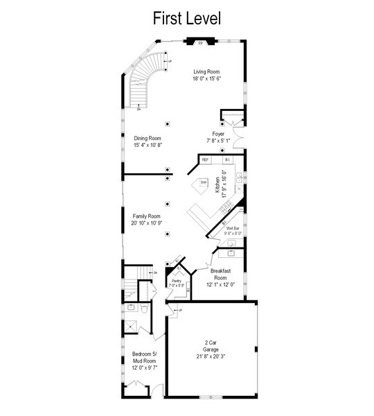 Real Estate Photography - 1024 Sheridan Rd, Highland Park, IL, 60035 - Floor Plan