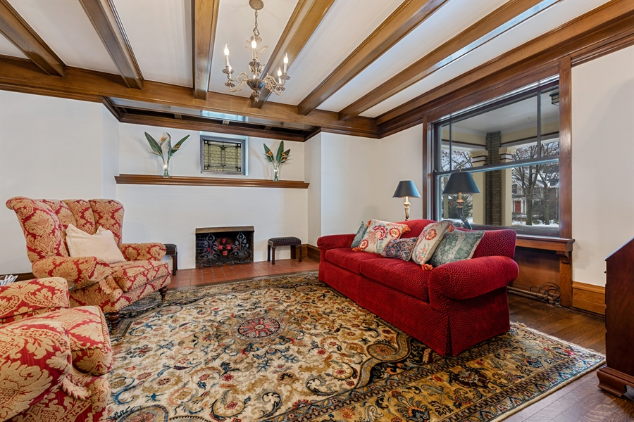 Real Estate Photography - 1021 Forest, Evanston, IL, 60201 - Living Room
