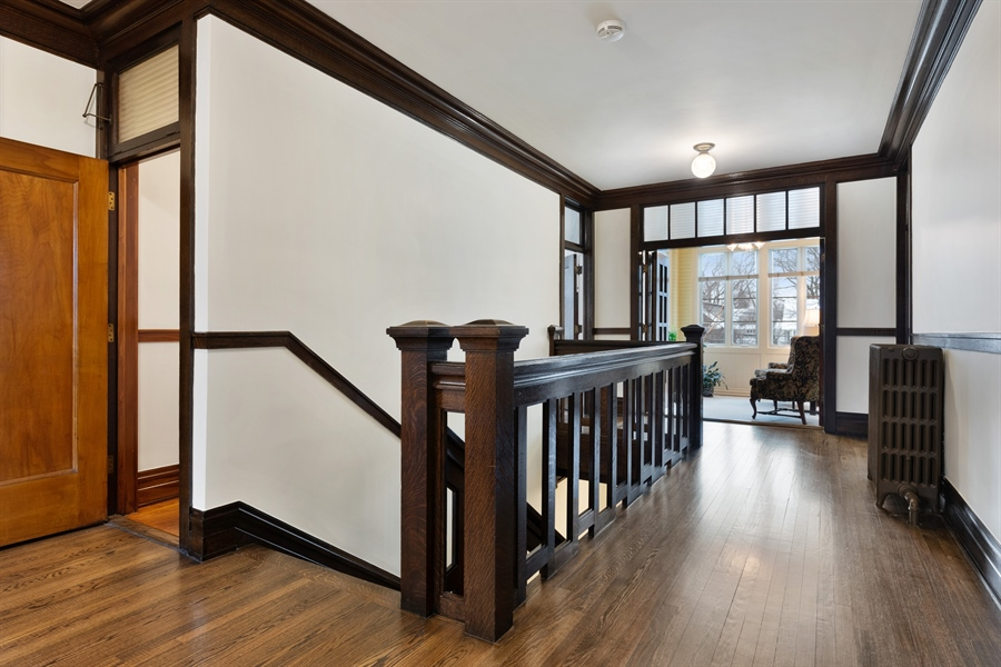 Real Estate Photography - 1021 Forest, Evanston, IL, 60201 - Second Floor Landing