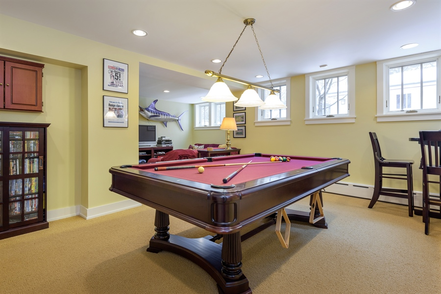 Real Estate Photography - 1021 Forest, Evanston, IL, 60201 - Pool Room