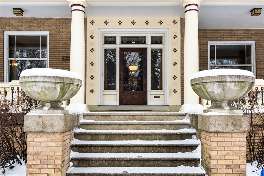 Real Estate Photography - 1021 Forest, Evanston, IL, 60201 - Entrance