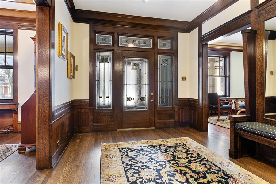 Real Estate Photography - 1021 Forest, Evanston, IL, 60201 - Foyer