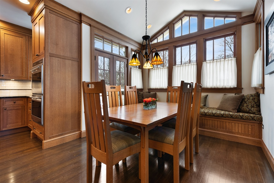 Real Estate Photography - 1021 Forest, Evanston, IL, 60201 - Breakfast Area