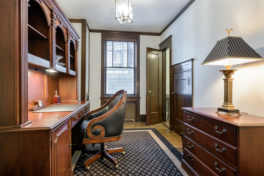 Real Estate Photography - 1021 Forest, Evanston, IL, 60201 - First Floor Office & Half Bath