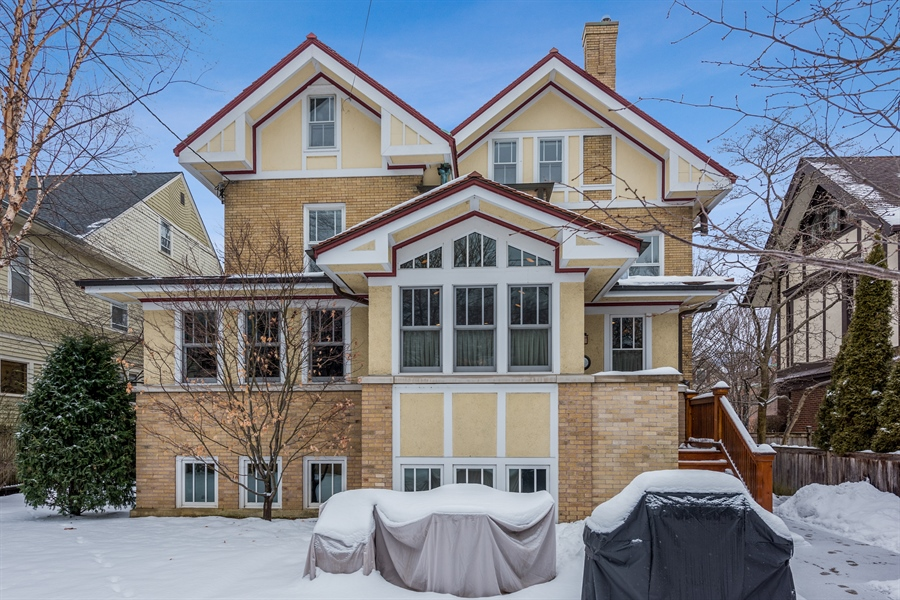 Real Estate Photography - 1021 Forest, Evanston, IL, 60201 - Rear View