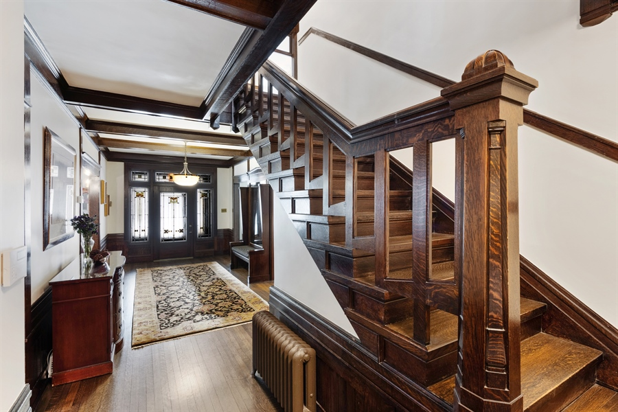 Real Estate Photography - 1021 Forest, Evanston, IL, 60201 - Staircase
