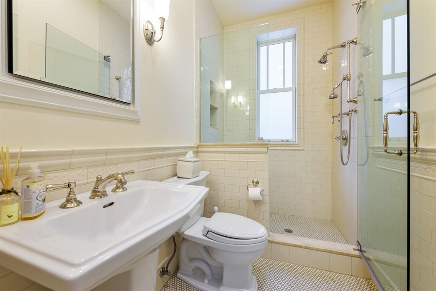 Real Estate Photography - 1021 Forest, Evanston, IL, 60201 - First Floor Bathroom