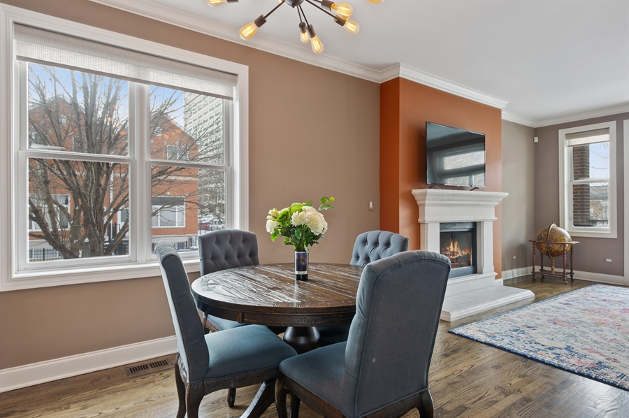 Real Estate Photography - 4901 N Winthrop Ave, Chicago, IL, 60640 - Dining Room