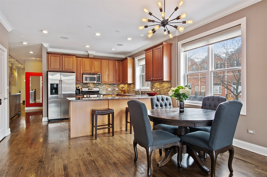 Real Estate Photography - 4901 N Winthrop Ave, Chicago, IL, 60640 - Kitchen / Dining Room