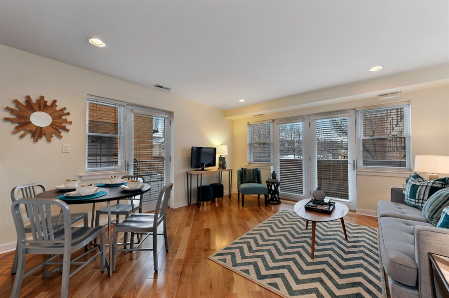 Real Estate Photography - 2525 W. Bryn Mawr, 204, Chicago, IL, 60659 - Living Room