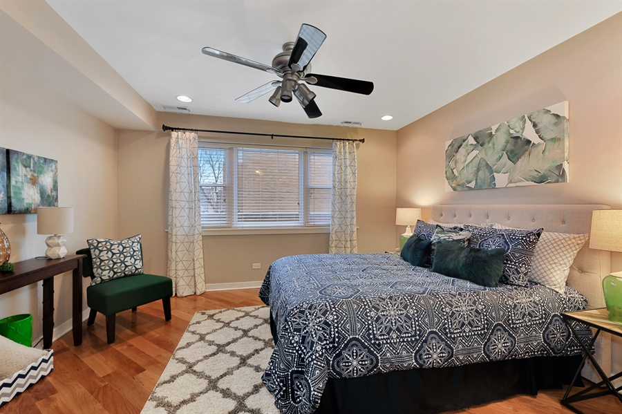 Real Estate Photography - 2525 W. Bryn Mawr, 204, Chicago, IL, 60659 - Master Bedroom