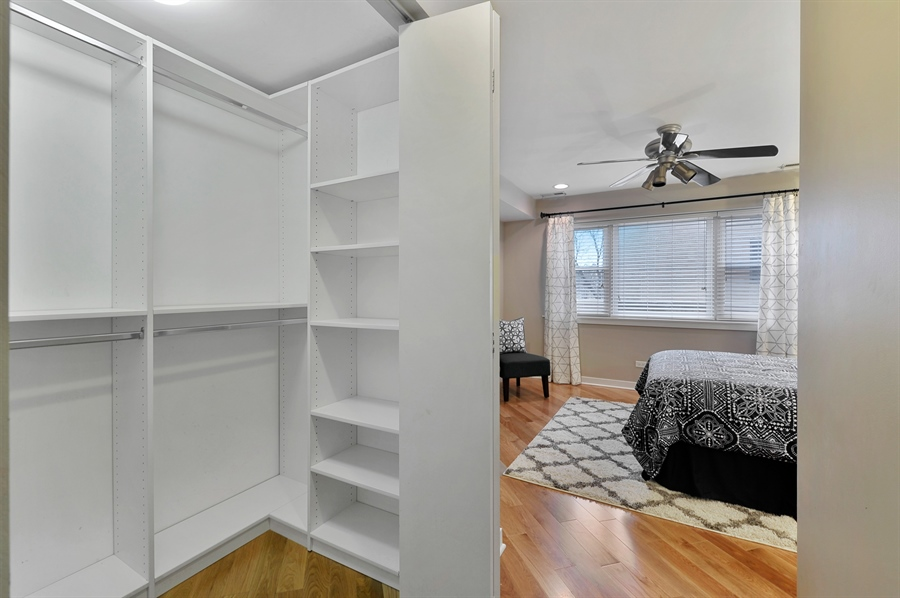 Real Estate Photography - 2525 W. Bryn Mawr, 204, Chicago, IL, 60659 - Master Bedroom Closet