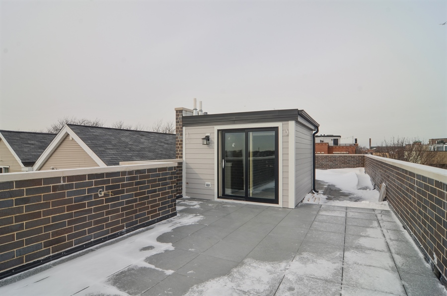 Real Estate Photography - 1731 W Roscoe St, Chicago, IL, 60657 - Roof
