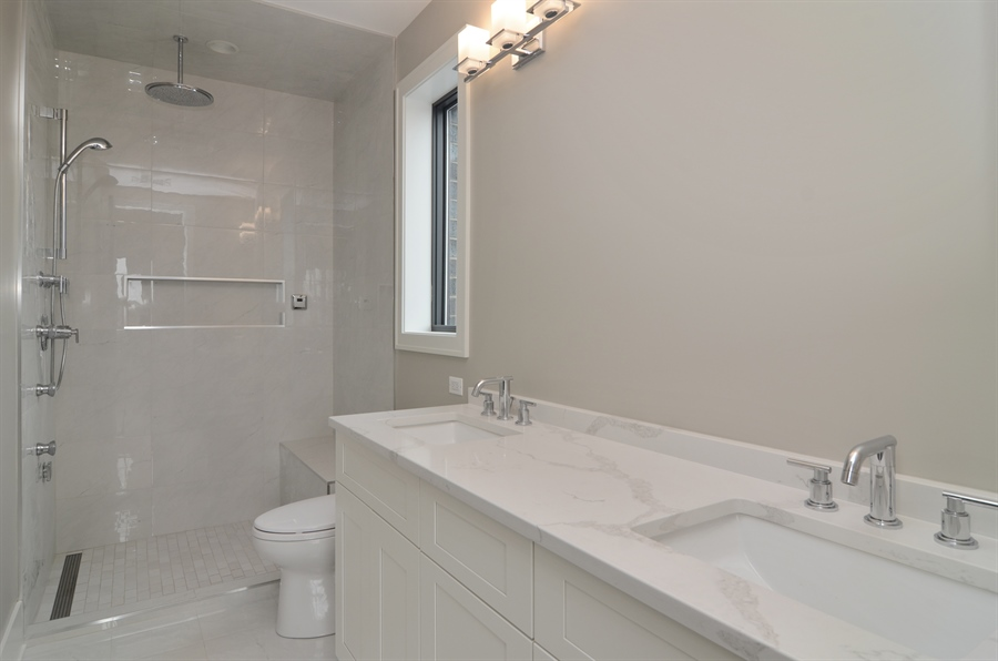 Real Estate Photography - 1731 W Roscoe St, Chicago, IL, 60657 - Master Bathroom
