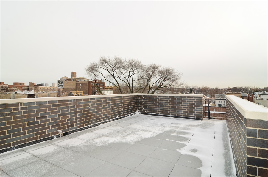 Real Estate Photography - 1731 W Roscoe St, Chicago, IL, 60657 - Roof Deck