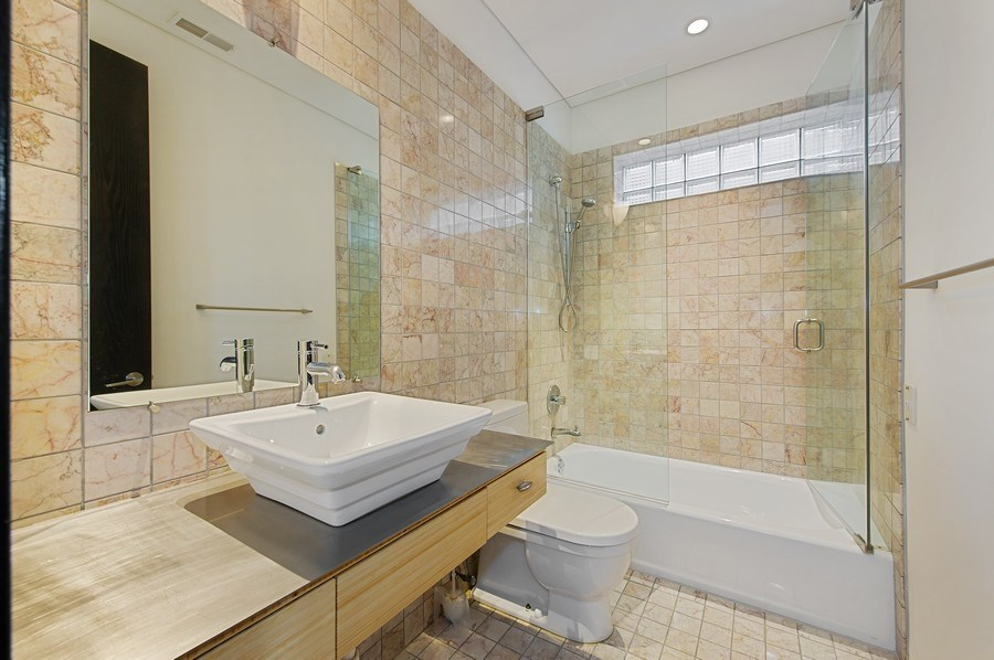 Real Estate Photography - 527 N Wood, Chicago, IL, 60622 - 3rd Bathroom