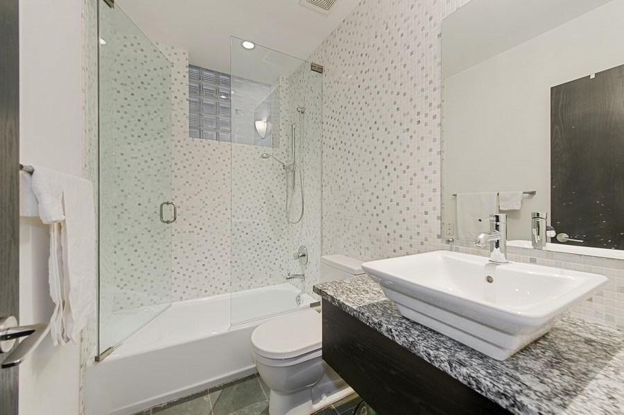 Real Estate Photography - 527 N Wood, Chicago, IL, 60622 - 2nd Bathroom