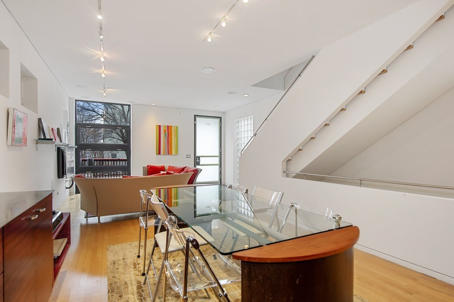 Real Estate Photography - 527 N Wood, Chicago, IL, 60622 - Living Room/Dining Room