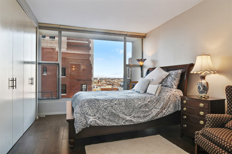 Real Estate Photography - 3200 N. Lake Shore, 1511, Chicago, IL, 60657 - Master Bedroom