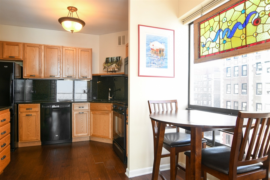 Real Estate Photography - 3200 N. Lake Shore, 1511, Chicago, IL, 60657 - Kitchen / Breakfast Room